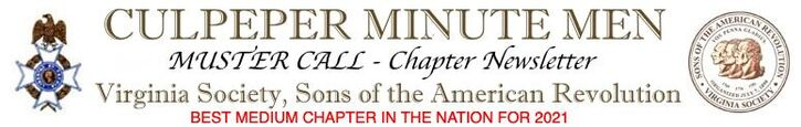 CULPEPER MINUTE MEN - MUSTER CALL